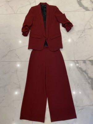 Zara Woman Abito business bordeaux