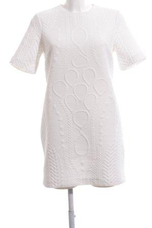 Zara Woman Shirtkleid weiß abstraktes Muster Casual-Look