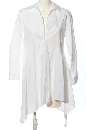 Zara Woman Long-Bluse weiß Casual-Look