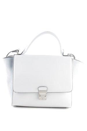 Zara Woman Shopper hellgrau-weiß Business-Look