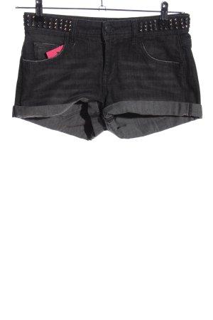 Zara Woman Shorts schwarz meliert Casual-Look