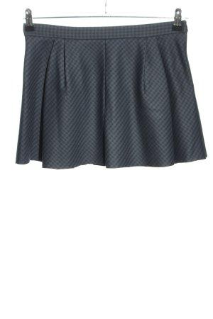 Zara Woman Skaterrock blau-schwarz Karomuster Casual-Look