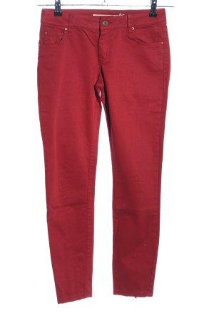 Zara Woman Slim Jeans dunkelrot Casual-Look
