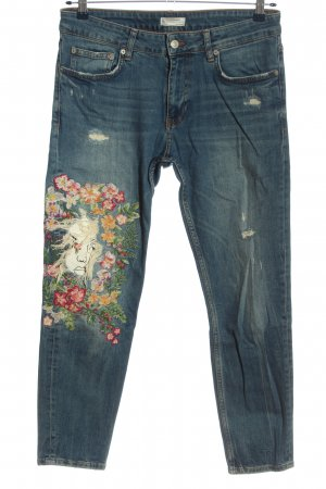 Zara Woman Skinny Jeans Blumenmuster Street-Fashion-Look