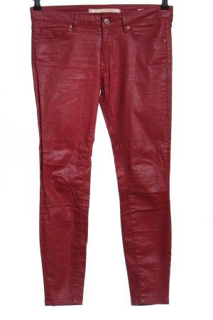 Zara Woman Skinny Jeans rot Casual-Look