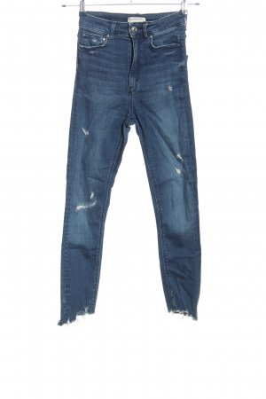 Zara Woman Skinny Jeans blau Casual-Look