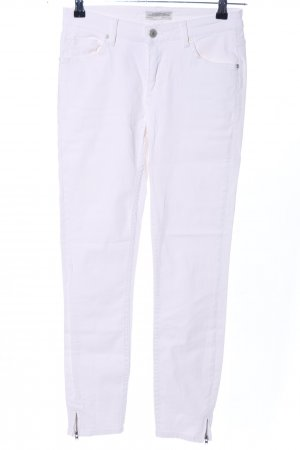Zara Woman Skinny Jeans weiß Casual-Look
