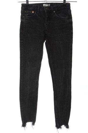 Zara Woman Skinny Jeans schwarz meliert Casual-Look