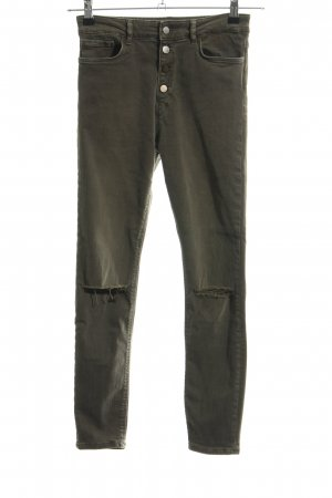Zara Woman Skinny Jeans khaki Casual-Look