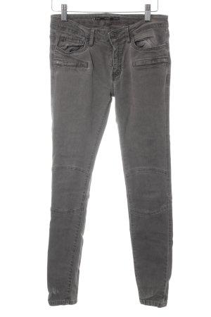 Zara Woman Skinny Jeans grau Casual-Look
