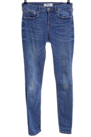 Zara Woman Skinny Jeans graublau Jeans-Optik