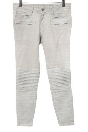 Zara Woman Skinny Jeans hellgrau Matt-Optik