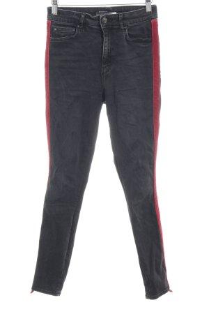 Zara Woman Skinny Jeans mehrfarbig Jeans-Optik