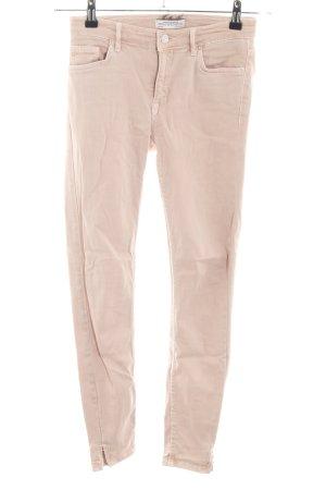 Zara Woman Skinny Jeans nude Casual-Look