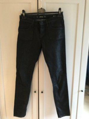 Zara Woman Slim Fit Jeans dunkelblau mit Schimmerglanz