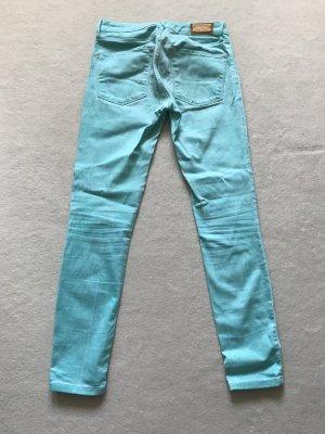 Zara Woman Slim Fit Jeans Türkis