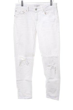 Zara Woman Slim Jeans weiß Casual-Look