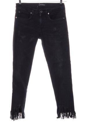 Zara Woman Jeans slim noir style décontracté