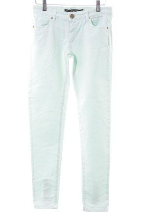 Zara Woman Slim Jeans türkis Casual-Look