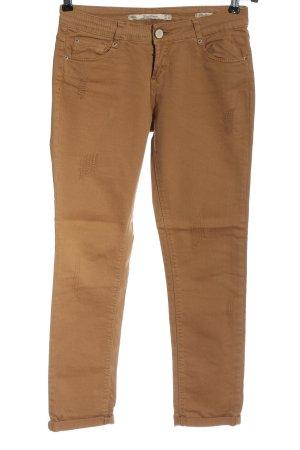 Zara Woman Slim Jeans braun Casual-Look