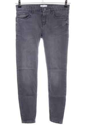 Zara Woman Slim Jeans hellgrau Casual-Look