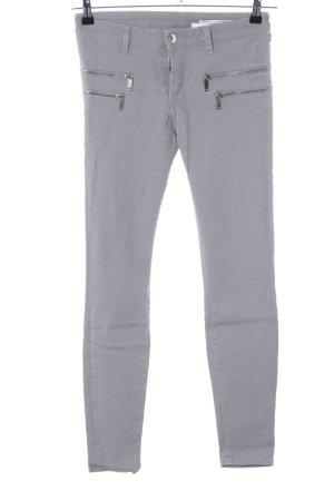 Zara Woman Slim jeans lichtgrijs casual uitstraling