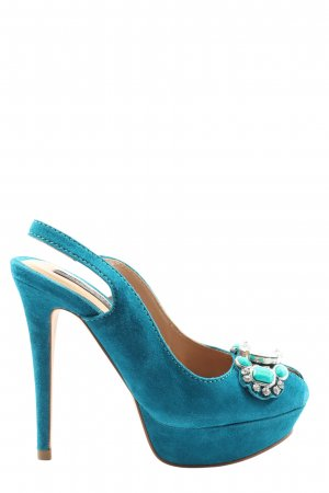 Zara Woman Slingback-Pumps türkis Elegant