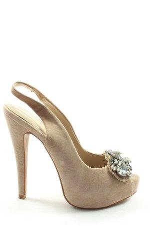 Zara Woman Slingback-Pumps creme Elegant