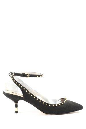 Zara Woman Czółenka z paskiem za piętą czarny W stylu casual