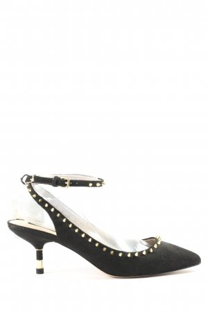Zara Woman Slingback-Pumps schwarz Casual-Look