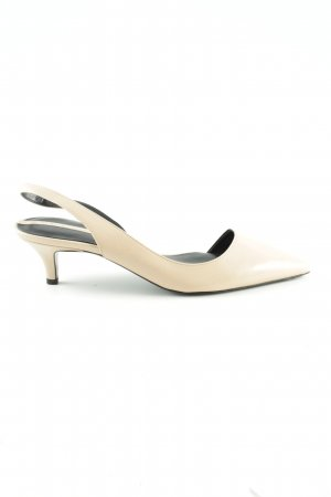 Zara Woman Slingback Pumps cream casual look