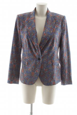 Zara Woman Smoking-Blazer blau-rot abstraktes Muster Business-Look