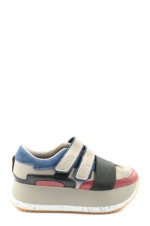Zara Woman Sneaker Klettverschluss mehrfarbig Casual-Look
