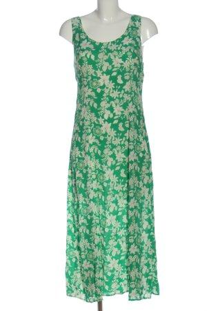 Zara Woman Sommerkleid grün Allover-Druck Casual-Look