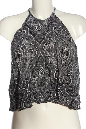 Zara Woman Top con bretelline nero-bianco modello misto stile casual