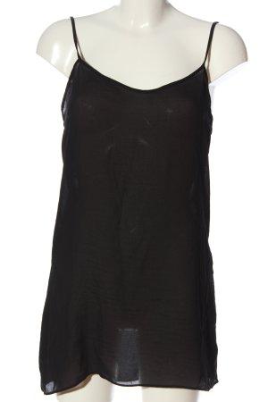 Zara Woman Top con bretelline nero stile casual