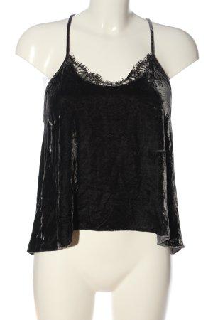 Zara Woman Spaghettiträger Top schwarz Elegant