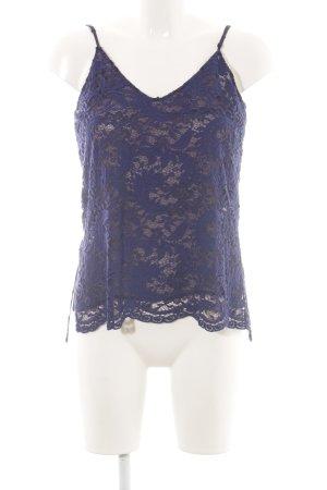 Zara Woman Spaghettiträger Top blau Casual-Look