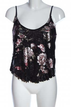 Zara Woman Spaghettiträger Top Blumenmuster Casual-Look