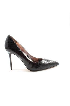 Zara Woman Spitz-Pumps schwarz Animalmuster Elegant