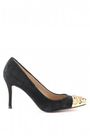 Zara Woman Spitz-Pumps schwarz-goldfarben Business-Look