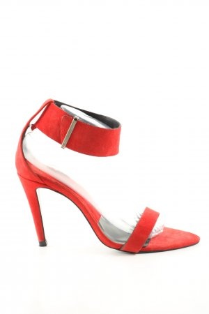 Zara Woman Spitz-Pumps rot Casual-Look