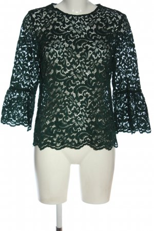 Zara Woman Blusa de encaje verde look casual