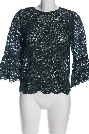 Zara Woman Spitzenbluse grün Elegant