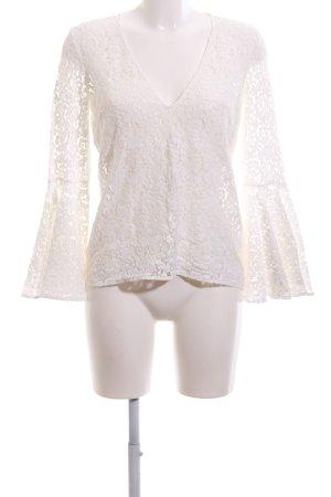 Zara Woman Spitzenbluse weiß Elegant