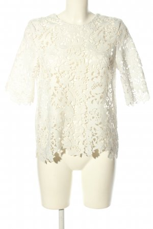 Zara Woman Spitzenbluse weiß Party-Look