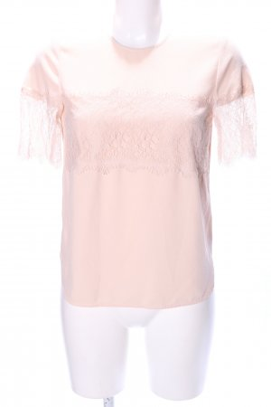 Zara Woman Spitzenbluse pink Casual-Look