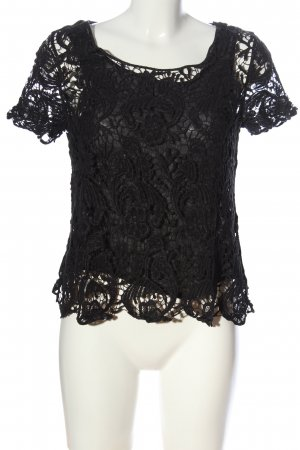 Zara Woman Lace Blouse black casual look