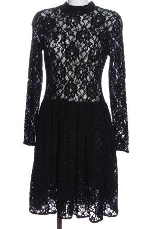 Zara Woman Spitzenkleid schwarz Elegant