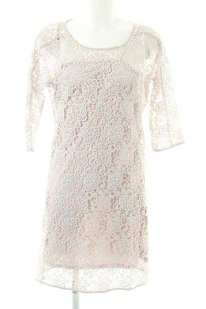 Zara Woman Spitzenkleid wollweiß-weiß Casual-Look
